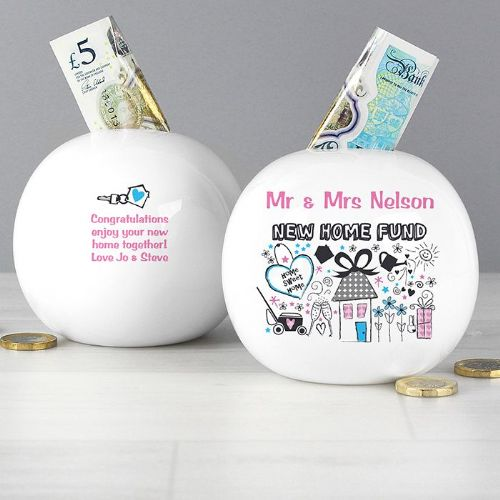 Personalised New Home Money Box